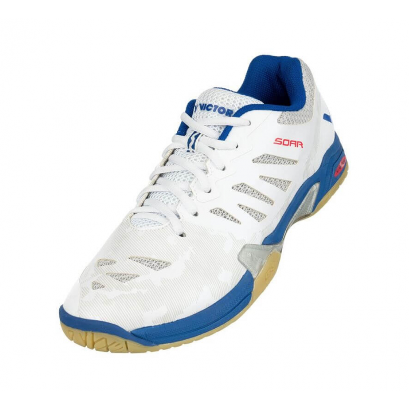 Victor 2019 SOAR - AB Court Shoes [White/Blue] ShoesVictor - Yumo Pro Shop - Racquet Sports online store