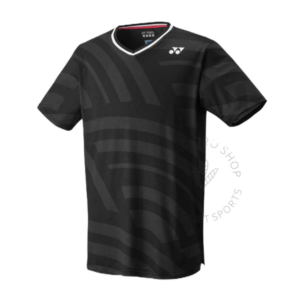 Yonex 10328 Men's US Open Crew Neck Shirt [Black] 2021Yonex - Yumo Pro Shop - Racquet Sports online store