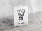 'Happy Bird-Day' Badminton Greeting Card