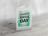 'Happy Birthday' Court Badminton Greeting Card