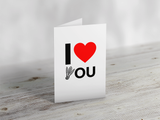'I Love You' Badminton Greeting Card