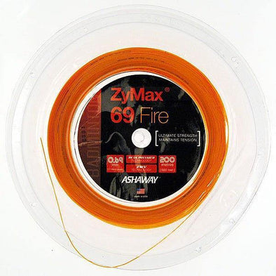 ASHAWAY ZYMAX 69 FIRE - FIRE ORANGE (200m Reel) - Yumo Pro Shop - Racket Sports online store