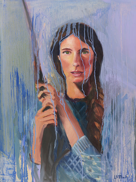 LADY IN BLUE 18x24