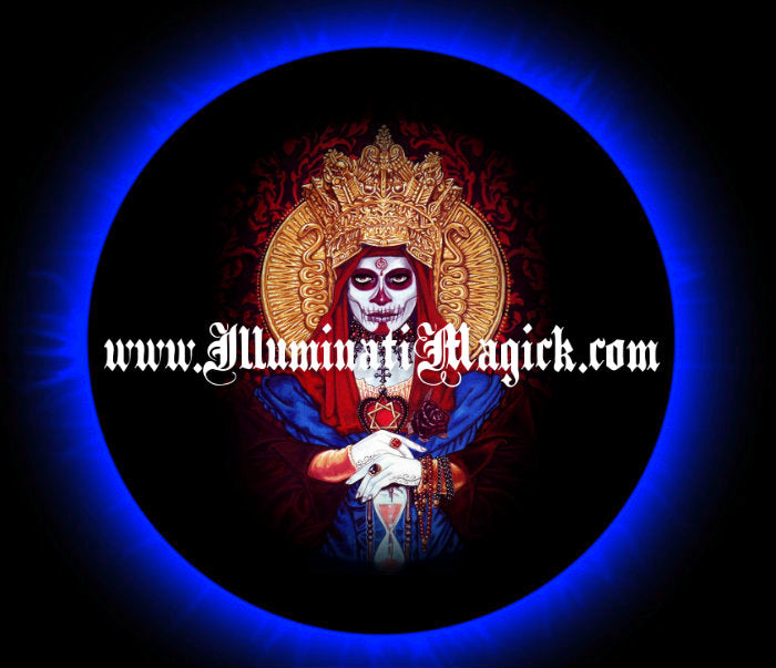 SANTA MUERTE HOLY DEATH WHITE SCYTHE WEALTH RICHES MONEY RITUAL SPELL