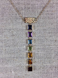 7 Chakra Square Gold BLiSS Necklace