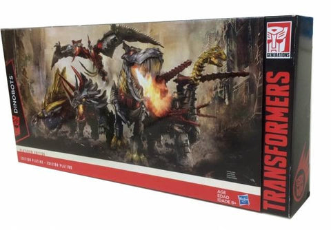 Age of Extinction Platinum Edition G1 Dinobots Set of 5