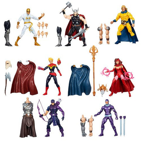 Avengers Marvel Legends Wave 1 Set of 7 Figures w/ Odin BAF