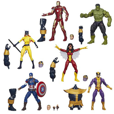 Avengers Marvel Legends Wave 2 Set of 6 Figures w/ Thanos BAF