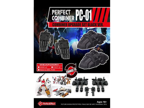 PC-01 Perfect Combiner Upgrade Set - Black Hands & Feet