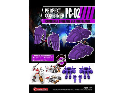 PC-02 Perfect Combiner Upgrade Set - Purple Hands & Feet