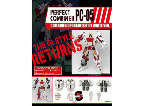 PC-05 Perfect Combiner Upgrade Set - White Hands & Feet
