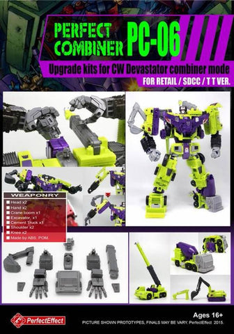 PC-06 PERFECT COMBINER Devastator Set