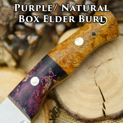 purple and natural box elder burl