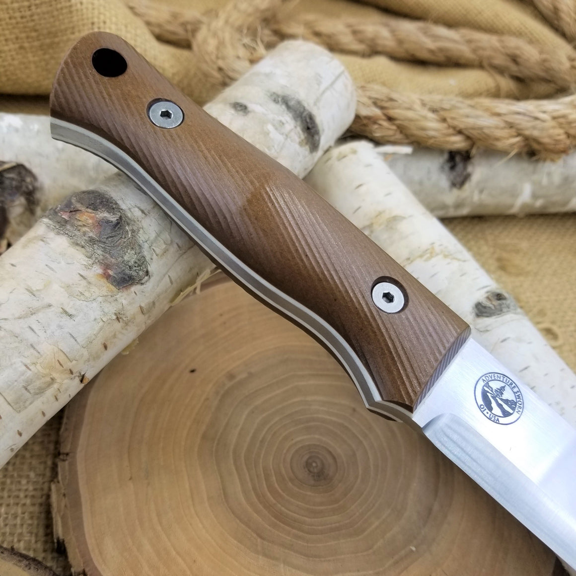 Classic: Brown Richlite over White G10 (r-series)