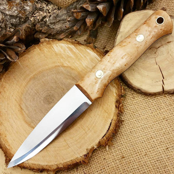 Classic Bushcraft Knife, Birdseye Maple