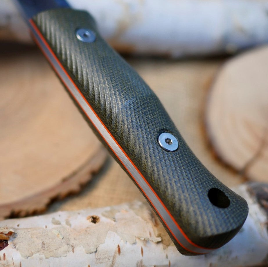 Classic: Green Canvas Micarta & Orange G10 (R-Series)