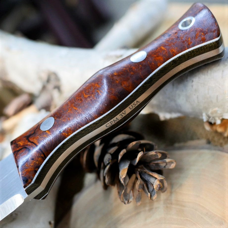 Tradesman: CPM 3V, Ironwood Burl & Double Liners