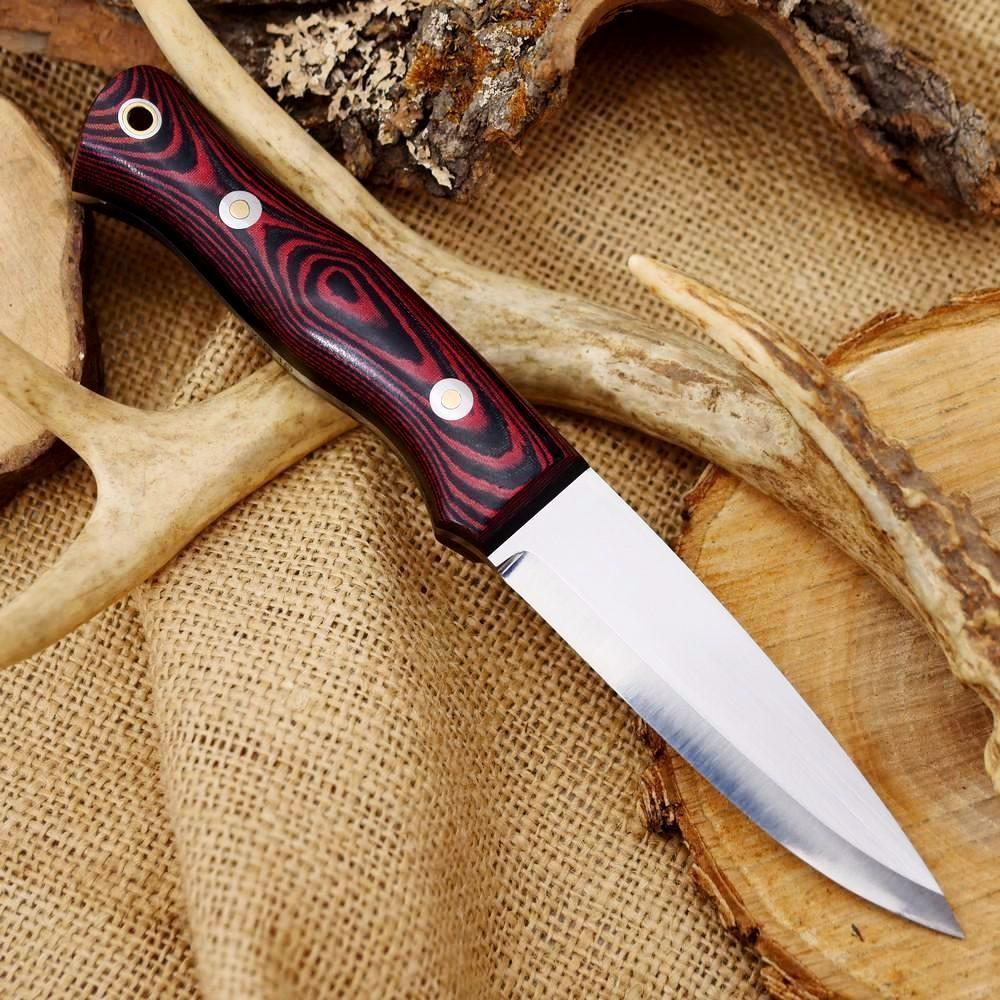 Classic: Red & Black Linen Micarta - Adventure Sworn Bushcraft Co.