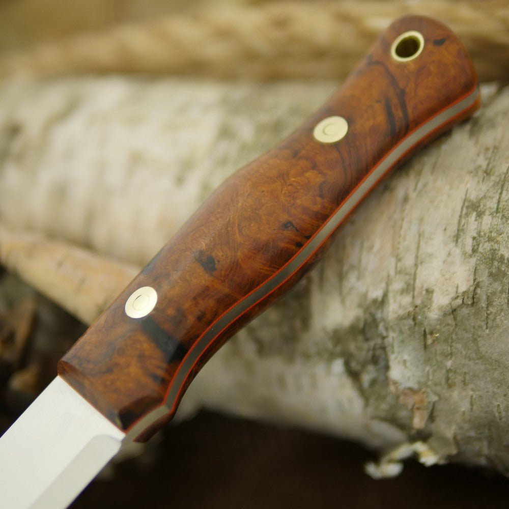 Mountaineer: Ironwood Burl & Orange G10