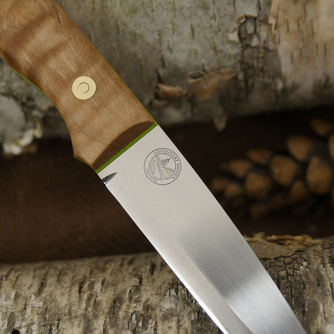 Mountaineer: Curly Maple & Toxic Green G10
