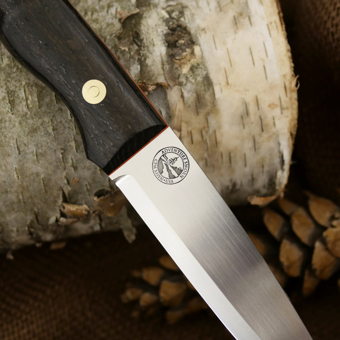 Mountaineer: Ancient Bog Oak & Hunter Orange G10