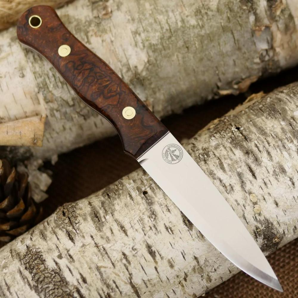 Mountaineer: Ironwood Burl & Red and White G10