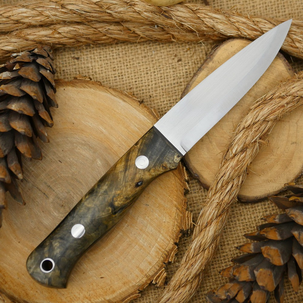Classic: Ohio Buckeye Burl & Black Canvas - Adventure Sworn Bushcraft Co.