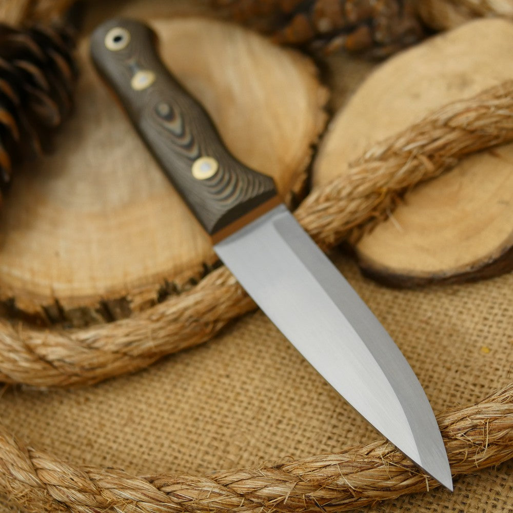 Classic: Brown Tricolor Richlite & Coyote G10 - Adventure Sworn Bushcraft Co.