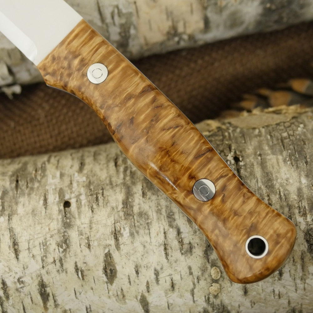 Mountaineer: Karelian Birch, Blue & White G10