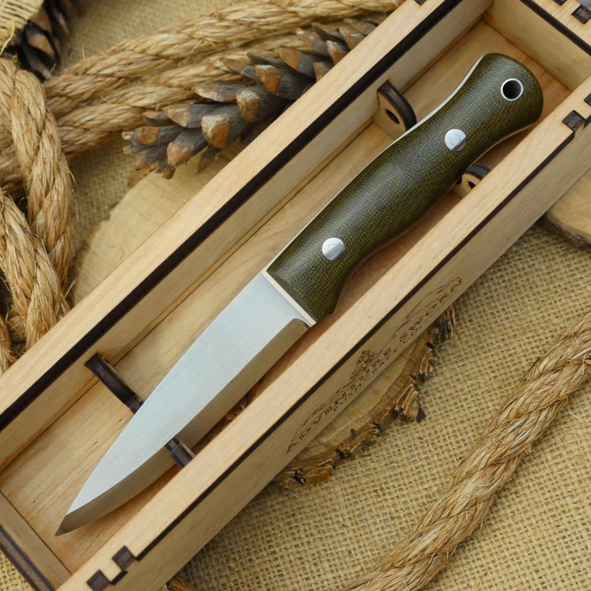 Wooden Knife Box
