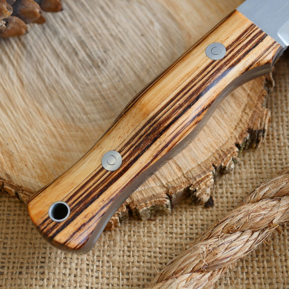 Mountaineer: Zebrawood & Earth Brown G10