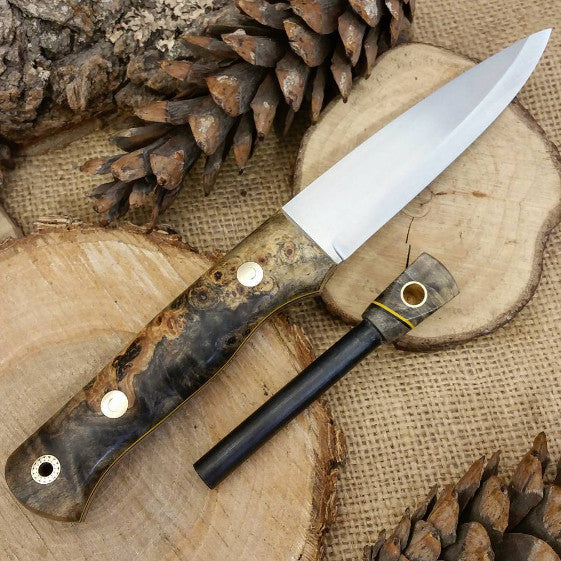 Classic Bushcraft Knife, Ohio Buckeye Burl
