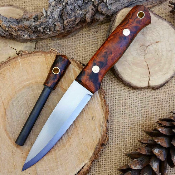 Classic Bushcraft Knife, Arizona Desert Ironwood Burl