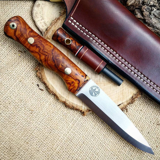 Mountaineer Bushcraft Knife, Arizona Desert Ironwood Burl
