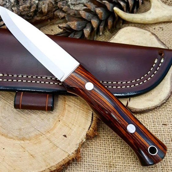 Classic Bushcraft Knife, Arizona Desert Ironwood
