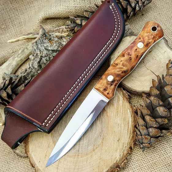 Mountaineer bushcraft knife; English Yew