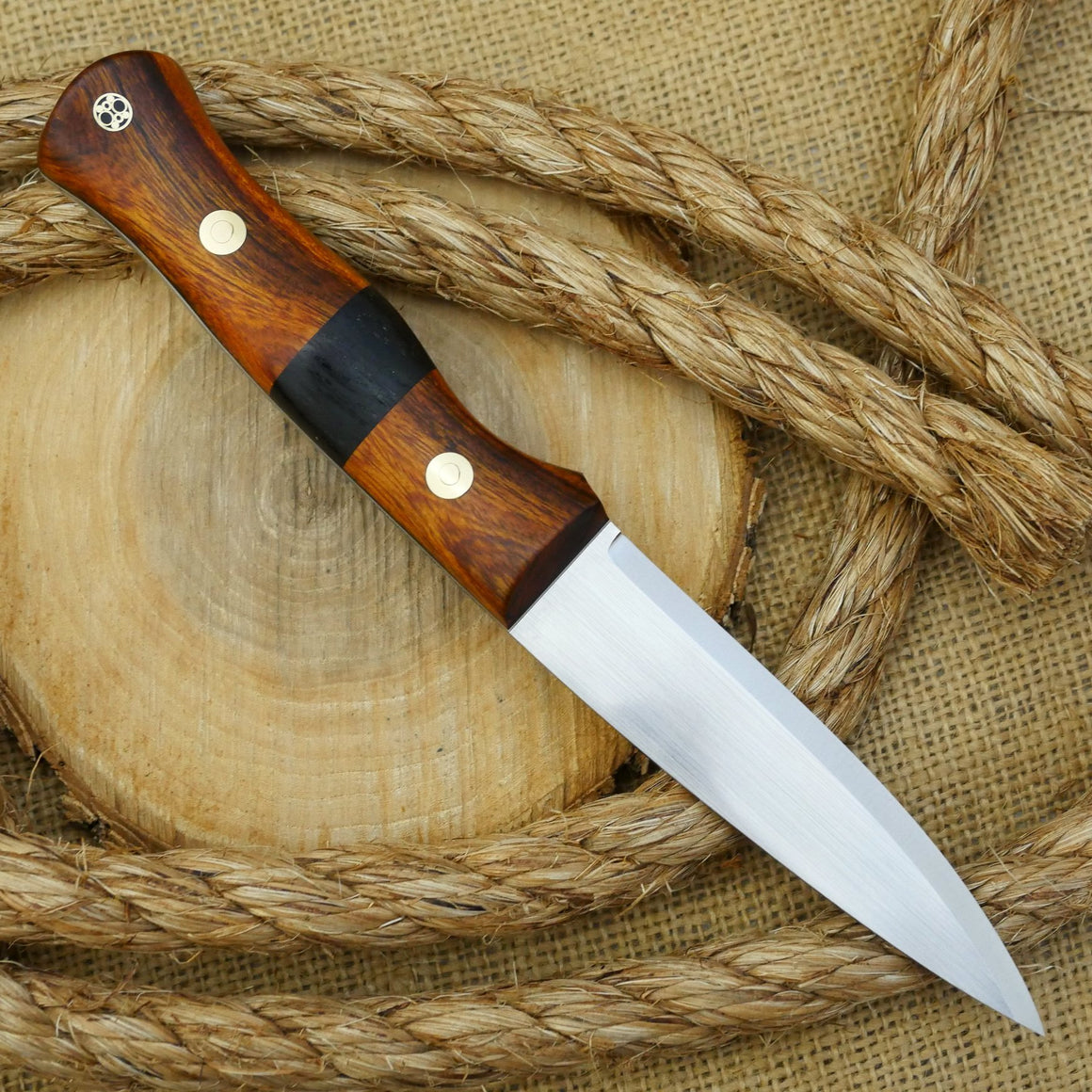 CPM 154 Mountaineer:  Ironwood & Bog Oak - Adventure Sworn Bushcraft Co.