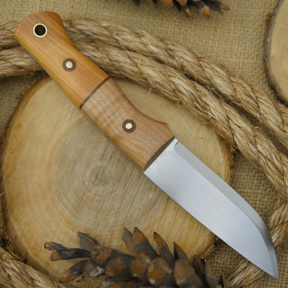 Huntsman: Curly Maple & Osage Orange - Adventure Sworn Bushcraft Co.