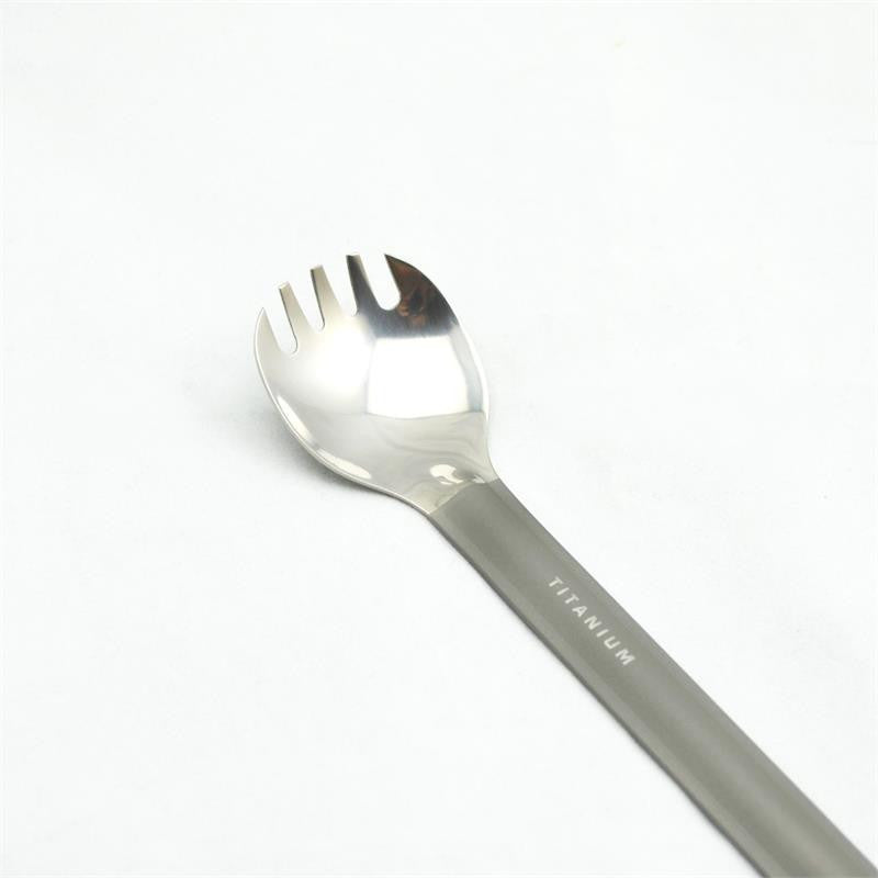 Toaks Titanium Long Handle Spork with Polished Bowl