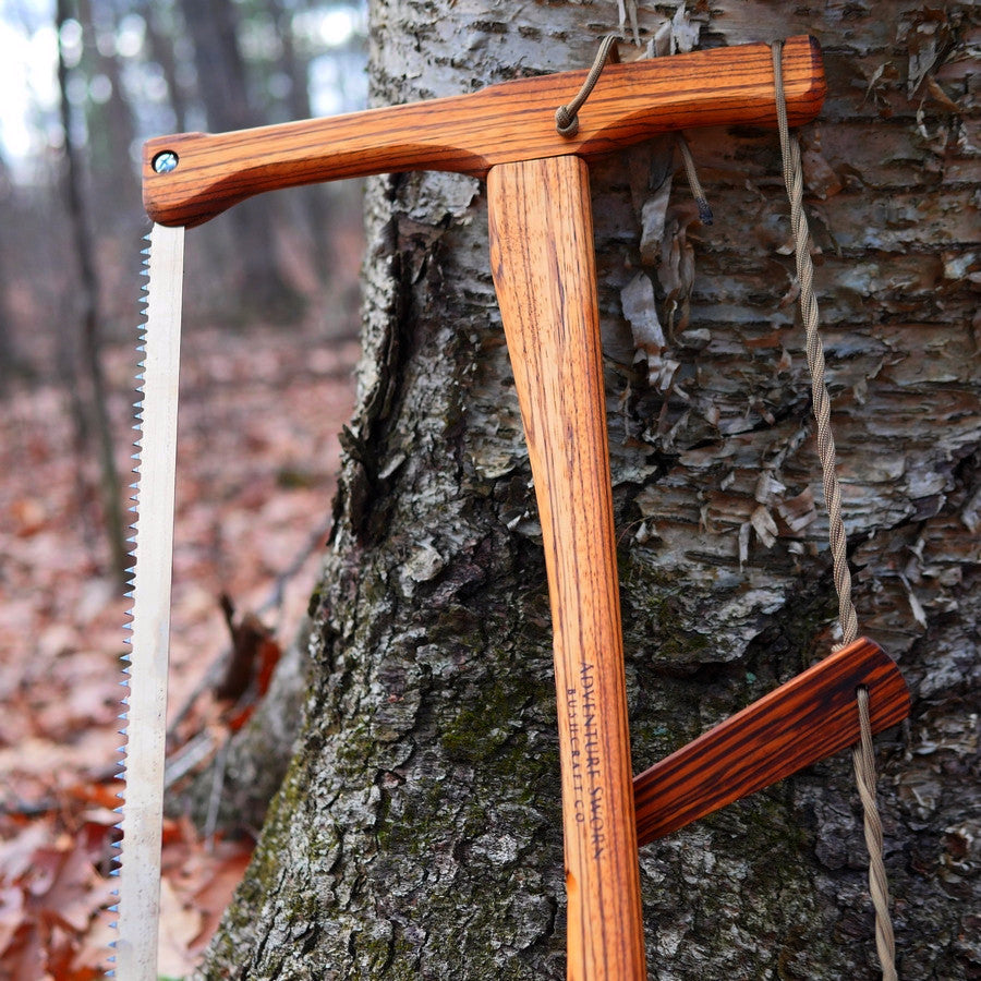 Custom Bucksaw: Zebrawood - Adventure Sworn Bushcraft Co.