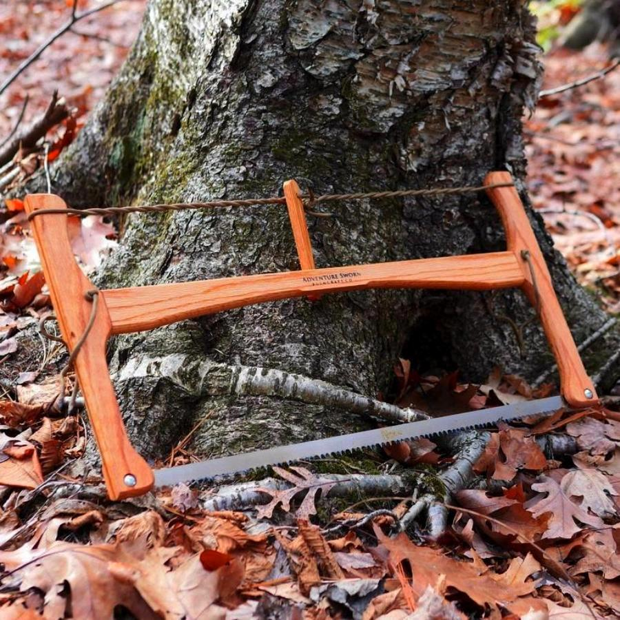 Custom Bucksaw: Northern Red Oak - Adventure Sworn Bushcraft Co.