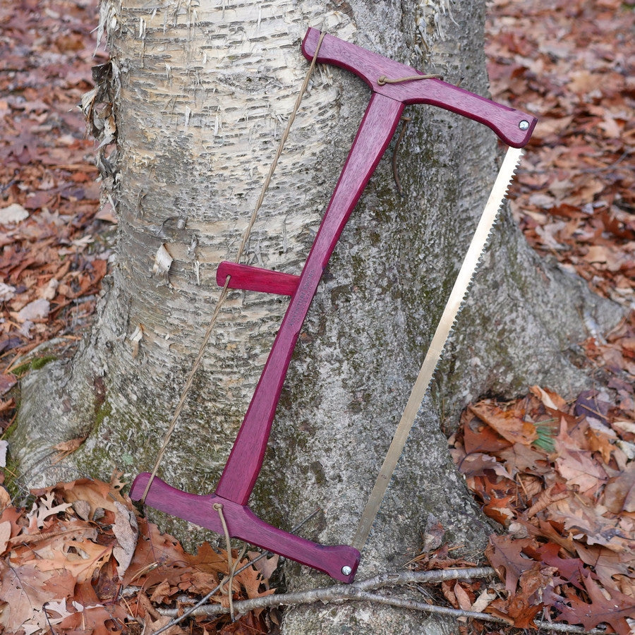 Custom Bucksaw: Purpleheart - Adventure Sworn Bushcraft Co.
