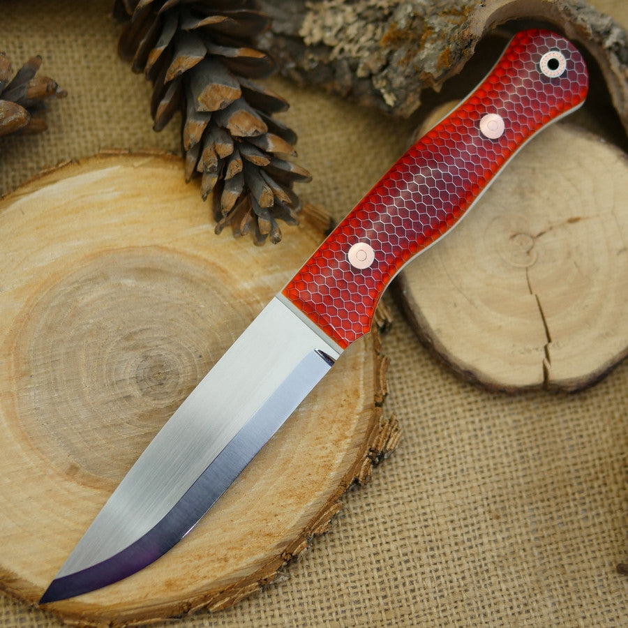 Explorer: Orange C-Tek & Ivory G10 - Adventure Sworn Bushcraft Co.