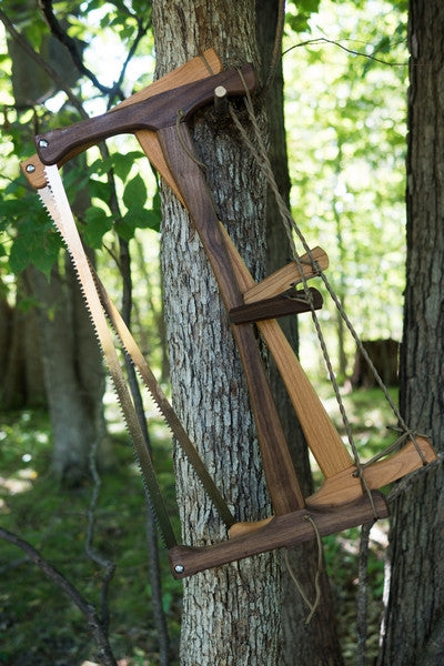 Walnut bucksaw (front), cherry bucksaw (back)