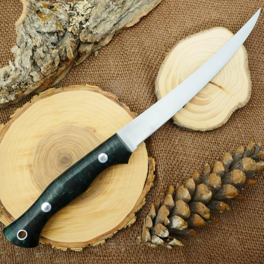 Fisherman: Dark Green Redwood Burl - Adventure Sworn Bushcraft Co.