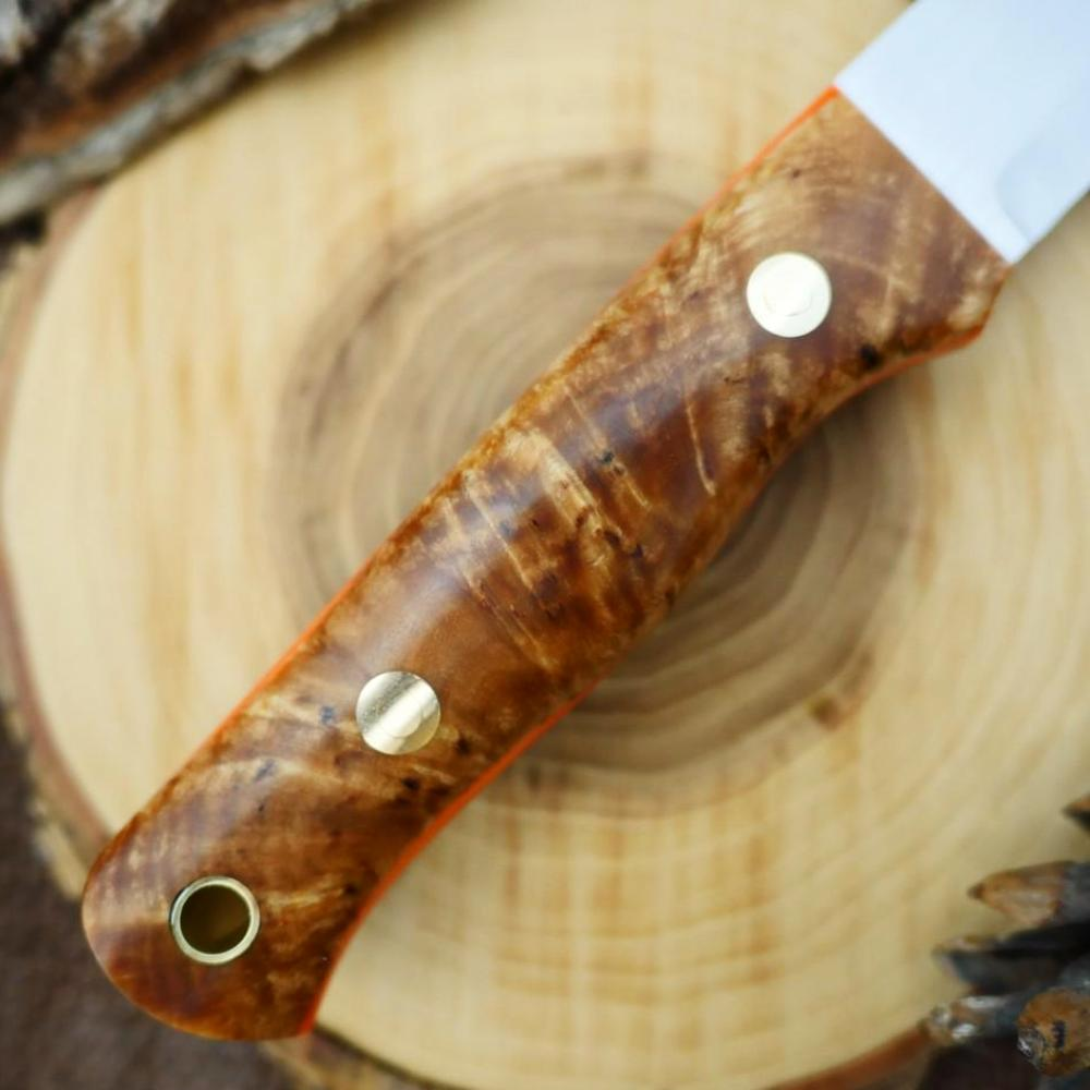 Classic: Karelian Birch & Hunter Orange G10 - Adventure Sworn Bushcraft Co.