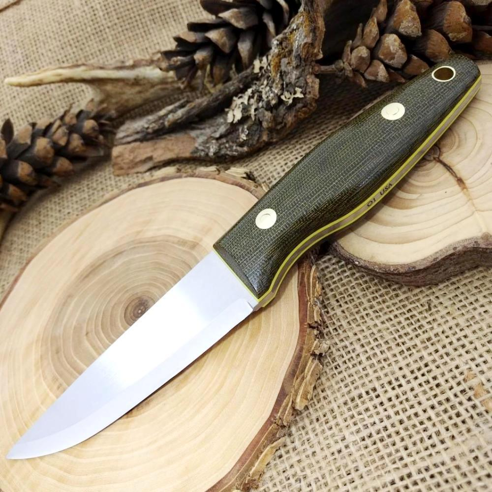 [In-Stock] Woodsman: Green Canvas & Yellow G10