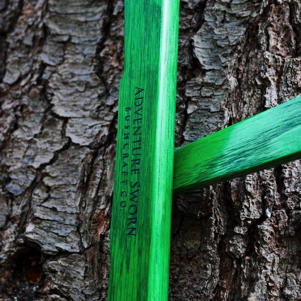 Custom Bucksaw: Vibrant Green Oak - Adventure Sworn Bushcraft Co.
