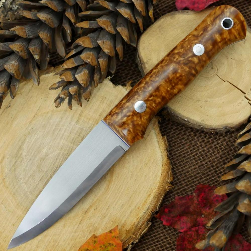 Classic: Karelian Birch, Blue & White - Adventure Sworn Bushcraft Co.