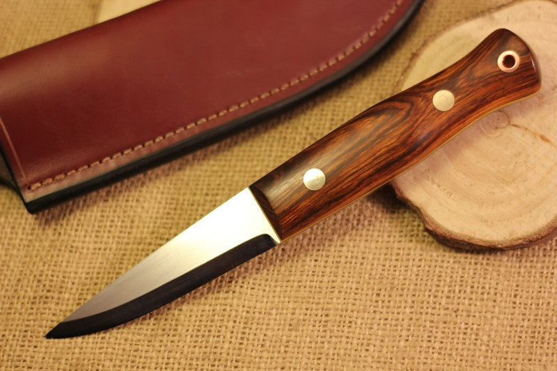 Woodcrafter Bushcraft Knife, Arizona Desert Ironwood Handle Scales